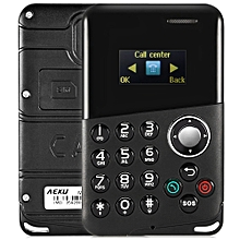 M8 0.96 inch Ultra-thin 4.8mm Card Mobile Phone with Message Bluetooth Alarm-BLACK