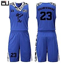 High Quality Men's Customized Team Basketball Sport Jersey Uniform-Blue(JY-1622)