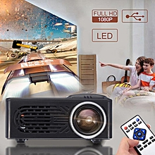 7000 Lumens HD 1080P LED Portable Projector Multimedia Home Cinema Video US Plug