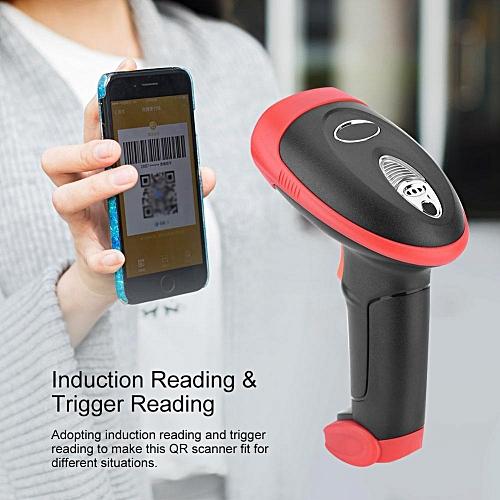 Wireless QR Reader 15mil Precise Wireless QR Code Scanner 2 4G 30000 QR  Codes Storage Wireless 2D Barcode Scanner