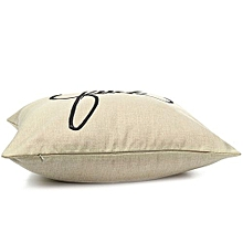 Fashion Letter Linen Throw Pillow Cases Home Decorative Cushion Cover Square HG1