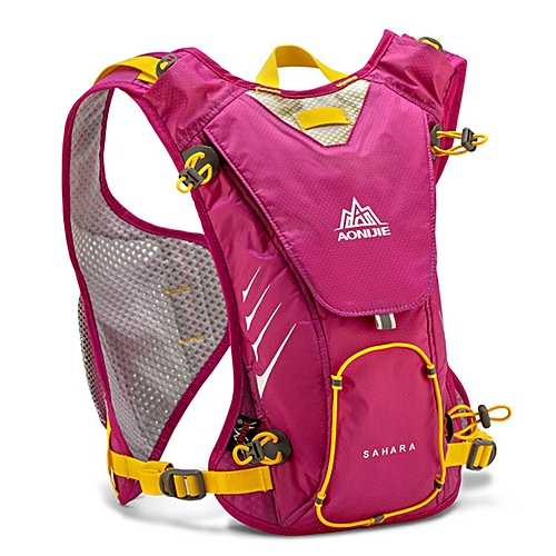 348b5d1b50d2 8L Running Vest Pack Light Weight Nylon Camping Hydration Backpack Men  Women Marathon Bicycling Hiking 4 Colors(Rose)