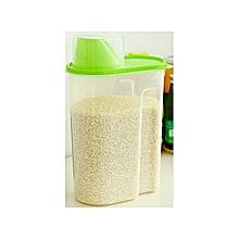Generic Cereals Containe-Kitchen Organizer Storage Grain-Green