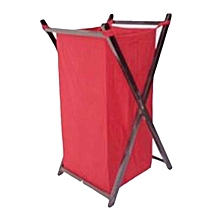 Foldable Laundry Basket - Red with Black Stands