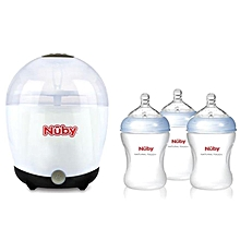 NT Microwave Sterilizer + 3 bottles - White