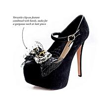 YULU Asymmetrical Bow Clip - Multi Purpose Jewellery - Leopard Shimmer