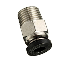 5pcs Pneumatic Connector PC4-01 For 1.75mm 3mm PTFE Tube Quick Coupler Feed Inlet For J-head Fittings Reprap Hotend Fits 3D Printer