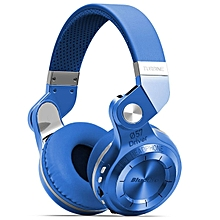 Bluedio T2+ Wireless Bluetooth 4.1 Stereo Headphone Headset Earphone Foldable / Stretchable Support TF Card / FM Function for Smartphones-BLUE