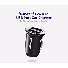 Tronsmart C24 Dual USB Ports 4.8A Car Charger World Smallest Mini Car Charger with VoltiQ for iPhone iPad Samsung HTC LG Xiaomi QTG-W