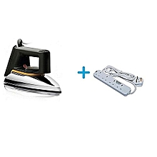 HD1172 - Dry Iron Box No.2 + a FREE Heavy Duty 4-Way Socket Extension Cable