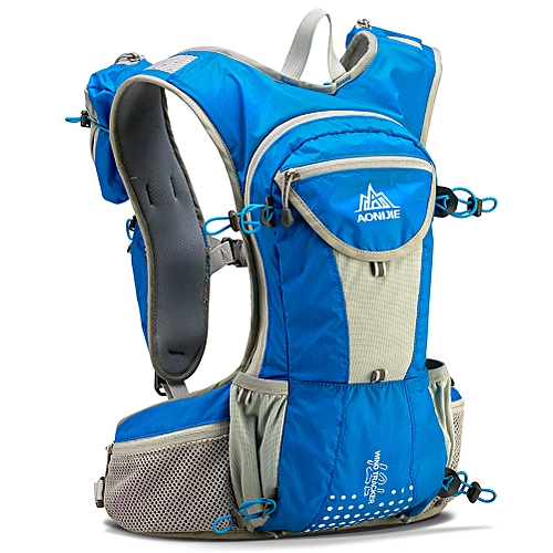 b12eec3bcf9b E905 12L Running Hydration Backpack Breathable lightweight Backpack Hiking  Camping Marathon Race Sports men women unisex(Blue)