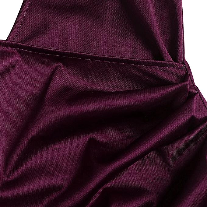 68e08957ae93 ZAFUL Cami Crossover Asymmetric Dress,Plum Velvet @ Best Price ...