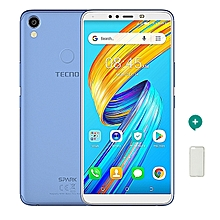 Spark 2 - 16GB, 2GB RAM, 13MP + 8MP Camera , Face ID ,FingerPrint (Dual SIM), City Blue + Free Protective Case