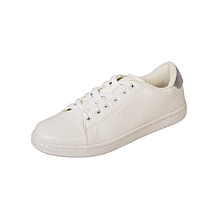 Casual Active Shoes - White Textured