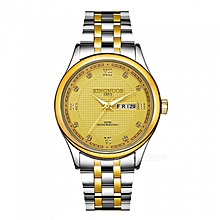Fashion temperament diamond calendar height waterproof stainless steel quartz watch  (Gold&Silver)