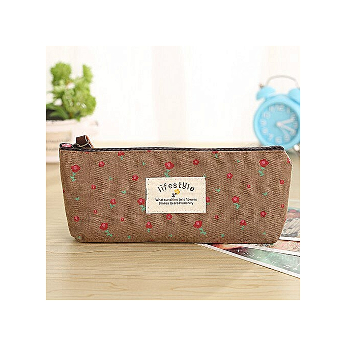 64b17d962e40 Women Leather Cosmetic Bags Makeup Pattern New Fashion Necessaries for  Organizer Toiletry Fresh natural color travel bag purse(coffee)