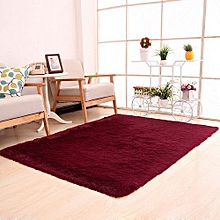 Olivaren Fluffy Rugs Anti-Skid Shaggy Area Rug Dining Home Bedroom Carpet Floor Mat Red -Red - Red