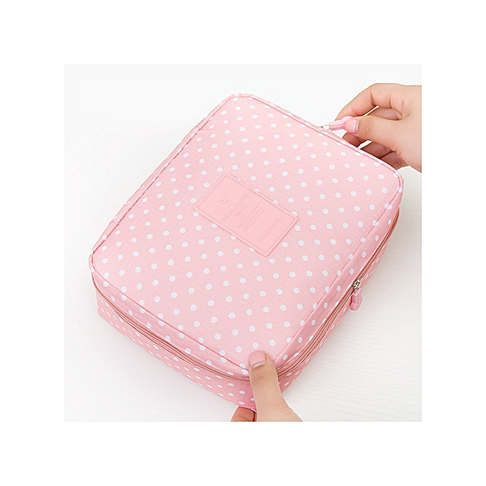 834d0c230c Women Makeup bag Cosmetic bag Case Make Up Organizer Toiletry Storage  Rushed Floral Nylon Zipper New