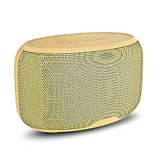 NR - 4015 Wireless Bluetooth Stereo Speaker Subwoofer Mini Player-YELLOW