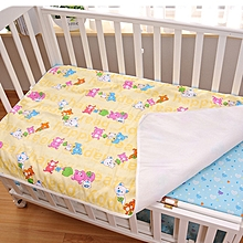 Waterproof Mattress Pad Baby Diaper Changing Pads Newborn Breathable Baby Nappy Reusable Washable Mat - 59x76cm - yellow