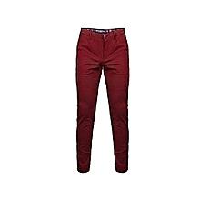 Khaki Trousers - maroon