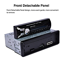 Car SD Card Reader USB MP3 Player With Bluetooth Detachable Panel FM Tuner