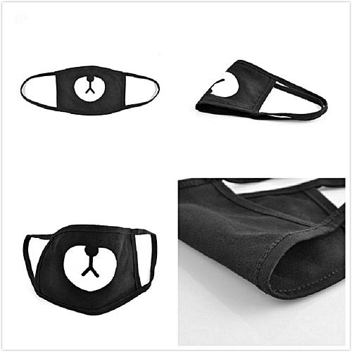 8b685688936 Fashion Cotton Dustproof Mouth Face Mask Unisex Korean Style Kpop Black  Bear Cycling Anti-Dust Cotton Facial Protective Cover Masks(  )