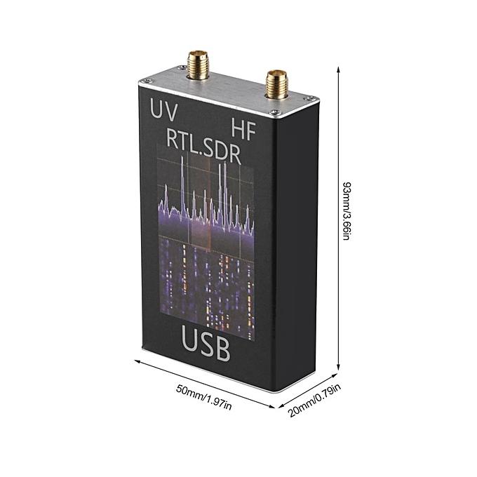 OR 100KHz-1 7GHz Ham Radio Receiver Full Band RTL-SDR Software Defined-black