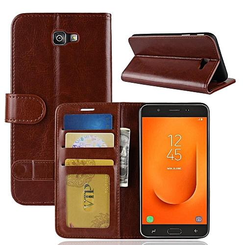 PU Leather Wallet Case Cover for Samsung Galaxy J7 Prime 2 (2018 Version)