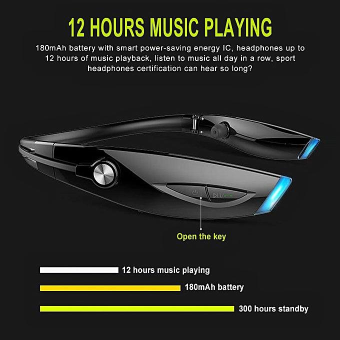 Zealot H1 Bluetooth Headphones wireless earphone Bluetooth Eeabuds Stereo  Headset In-Ear HandsFree Sports Earphones With Mic (Black) WANKAI