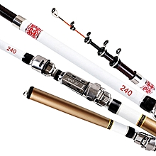 Fishing Rod Telescopic Rod Convenient Carbon Fiber 2.4m Salterwater Freshwater Fishing Sea Boat Fishing Fishing Accessory