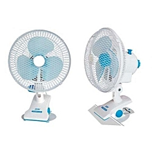 Mini Elegant Table Clip Powerful cooler Fan - White-Blue