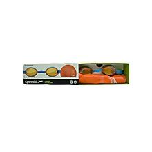 Swim Goggles Jnr Jet Swim Set- 8703423081/000/70342/6817orange/Sky-