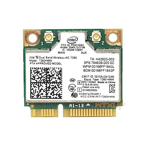 802 11ac for Intel Wireless-AC 7260 7260HMW wifi+BT 4 0 Bluetooth adapter  mini PCI-E 867Mbps 7260AC 2x2 WiFi Wlan card(7260AC)