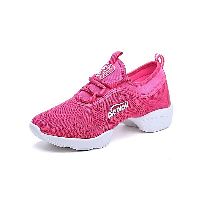 Tauntte Jazz Dance Shoes Women Air Mesh Sneakers Lady Shoes Pink