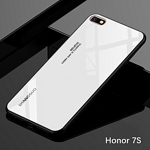 official photos 27957 df5a1 Gradient Glass Case Honor 7S Glass Case Full Cover Tempered Glass Back  Cover Casing For Huawei Honor 7S