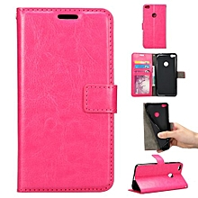 "[P8 P9 Lite 2017] Case, Slim Holster Soft Flip Leather Cover With Card Slot Stand For 5.2"" Huawei [Honor 8 Lite][Nova Lite][G9 2017], Rose"
