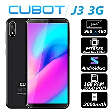 Cubot J3 3G Smartphone 5.0 inch Android GO MT6580 Quad Core 1.3GHz 1GB RAM 16GB ROM 8.0MP Rear Camera 2000mAh Detachable Battery Fingerprint Scanner-BLACK
