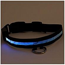 Adjustable Safety Pets Dog LED Flashing Night Light Nylon Collar USB Charging
