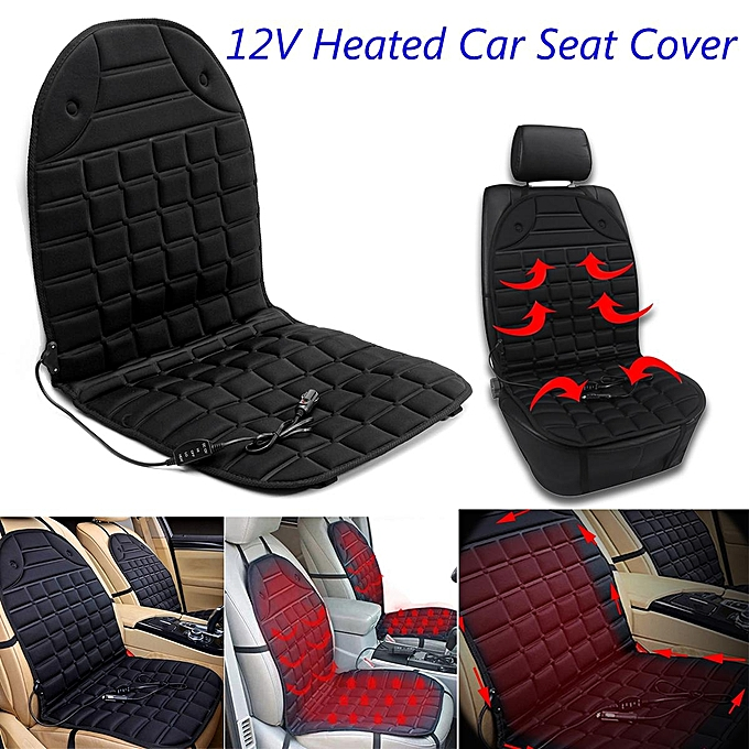 12V Car Heated Seat Cover Cushion Heater Temperature Controller Warmer Pad