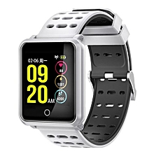 """N88 - 1.3"""" Smart Watch 170mAh Call Message Reminder For Android IOS - White"""
