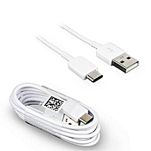Type C  Fast Charge USB Cable 1 METRE Cable - White