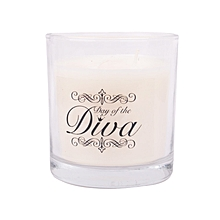 White scented candle: Day of the Diva