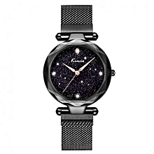 New Classic Ladies Magnetic Bracelet Luxury Watch K6321M - Black