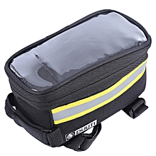 DUUTI Bike Phone Case with Touchable PVC Screen Waterproof Reflective Bicycle Bag Yellow