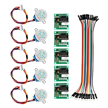 5Pcs 5V Stepper Motor With ULN2003 Driver Board Dupont Cable For Arduino