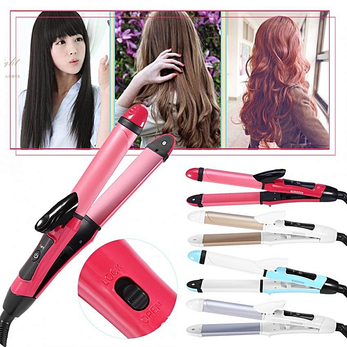 Generic 2 In 1 Ceramic Hair Straightener Curler Hair