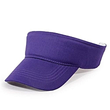 2016 Cotton Empty Top Hat Children Kids Solid Sun Hat Visor Hat Free Customized Wholesale And Retail Group Advertising Cap(Purple)