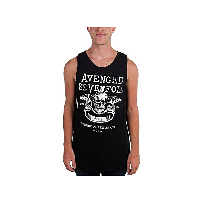 b3bf8dbda1d Fashion Avenged Sevenfold - Mens Welcome To The Family Tank Top Black  Cotton Mens Funny Cool
