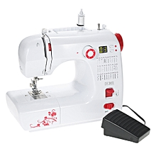Decdeal Multifunctional Electric Household Sewing Machine with 30 Stitch Patterns Double Thread Adjustable Speed LED Display Buttonhole Presser Foot Pedal AC100-240V